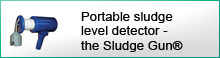 Portable sludge level detector - the Sludge Gun®
